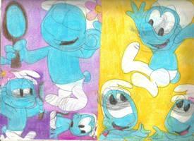 Sketch Pad Smurfs 2 by RozStaw57