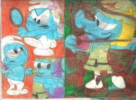Sketch Pad Vanity Smurf 2 by RozStaw57