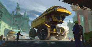 Inflatable Dump Truck 02B by fmacmanus
