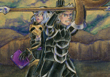 On my honor as a knight [ACEO] by NairaNorica