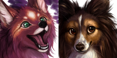 Painted Headshot Commissions (OPEN) by kitfaced