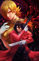 Seras and Alucard by NOPEYS