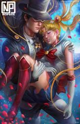 Sailormoon X Tuxedo Mask by NOPEYS