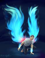 Angel of Fire by kaciekk
