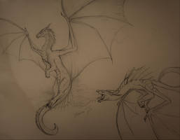 Dragons sketch by Scaled04
