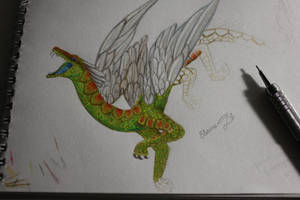 Feathered dragon W.I.P. by Scaled04
