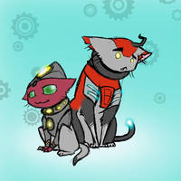 orvus and sigmund kittehs by Underbase