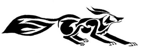 Tribal Fox by Half-Empty-Glasser