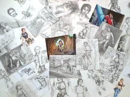 Mix of my Tomb Raider arts by alineshenon