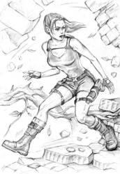 Lara runs through Jungle Temple by alineshenon