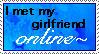 Online Girlfriend Stamp by FlashyFashionFraud