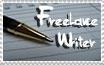Freelance Writer Stamp by FlashyFashionFraud