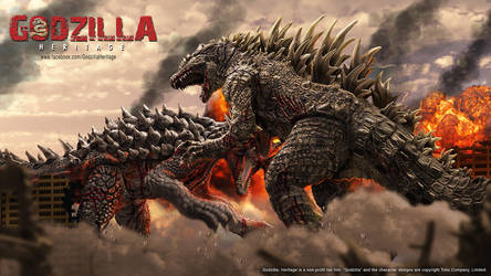 Godzilla vs Anguirus Concept Art by LDN-RDNT