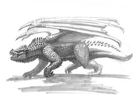 Unused Dragon Concept by LDN-RDNT