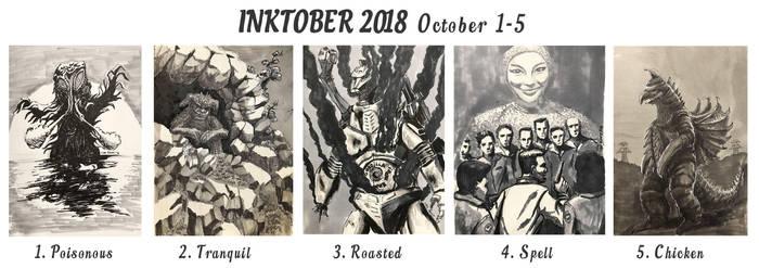 Inktober 2018 October 1-5 by LDN-RDNT