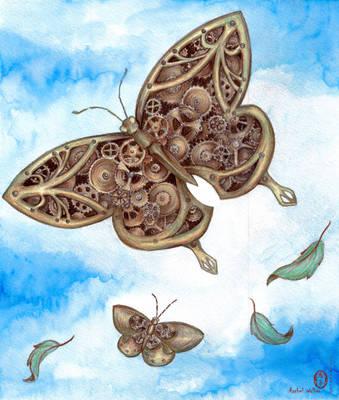 Clockwork Butterfly by Oniko-art