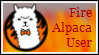 Stamp: Fire Alpaca by therachelofaspens