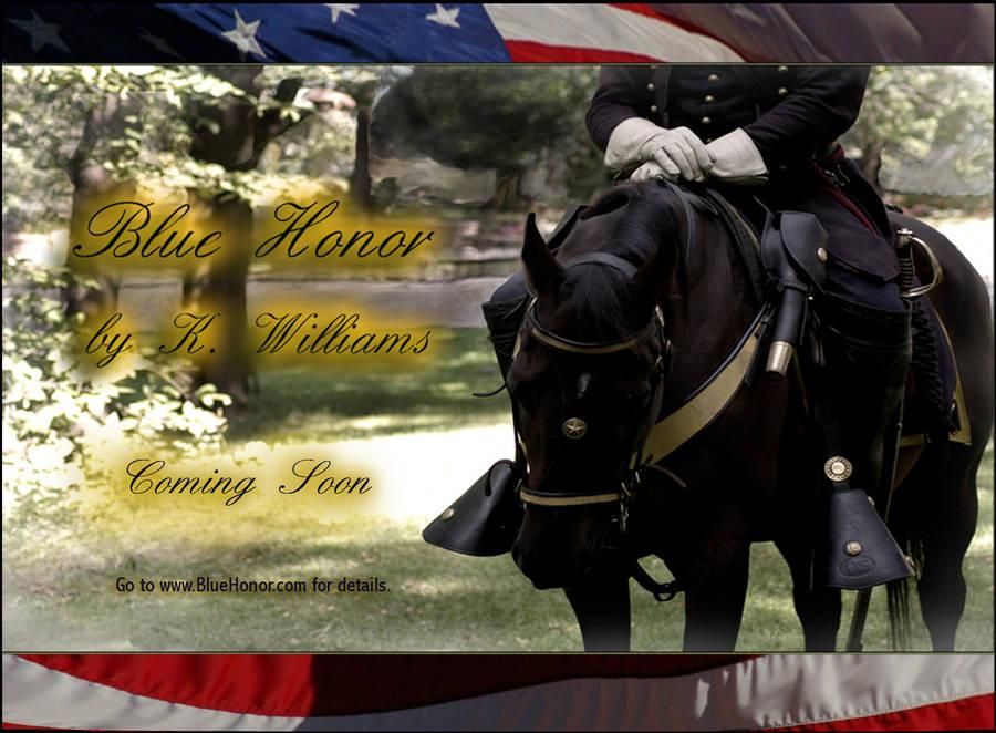 Blue Honor Promo Postcard by KWilliamsPhoto