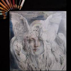 Angel in progress by Artist-AbigailMarie