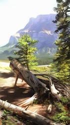 Banff Landscape Painting 1 by damie-m