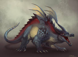Creature Design - Dragon by damie-m