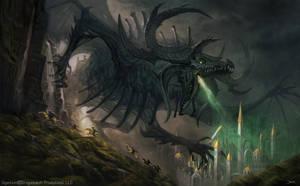 Stygius, The Dreaded Demon Dragon by damie-m