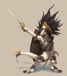 Kobold Chieftain - Pathfinder by damie-m