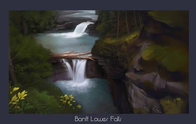Lower Falls - Procreate by damie-m