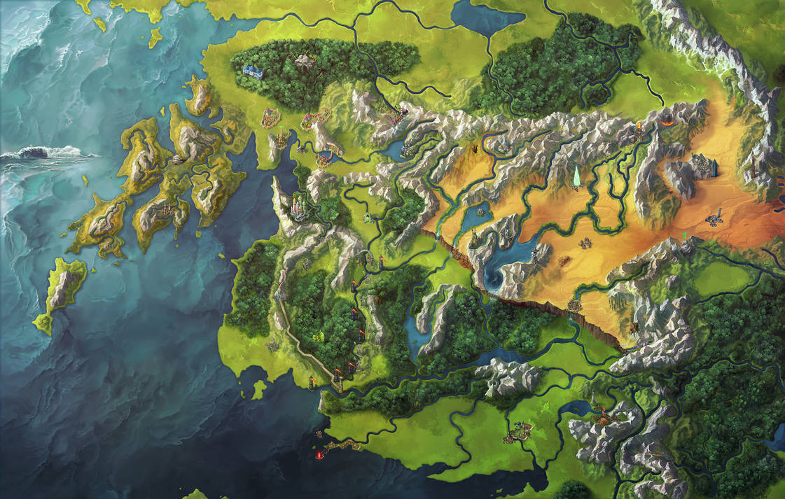 Map of New Thassilon by damie-m
