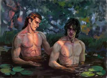 Benedict and Corvin ^_^ by Pti-SPB