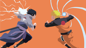 Naruto vs Sasuke minimalistic by diizay