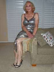 Molly in a shiny gown by MollyFootman