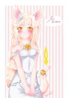Anime White Cat Girl by FinsterlichArt