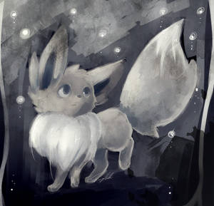 Shiny Eevee Painting by FinsterlichArt