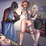 Elana with Cruel Couple by pyperhaylie