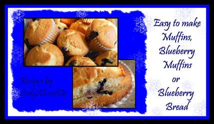 Recipe - Blueberry Muffins by LadyAliceofOz