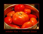 Winter Fun... Tomato Sauce by LadyAliceofOz