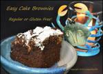Easy Cake Brownies - regular or gluten free!! by LadyAliceofOz