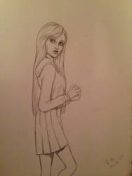 School uniform girl by MomoiroGirl
