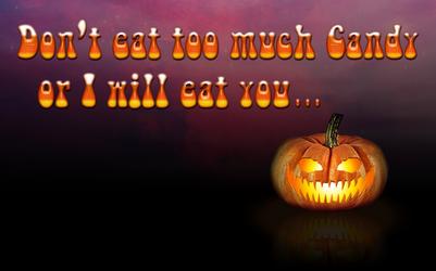 Halloween Pumpkin Wallpaper / Poster by Sinner-PWA