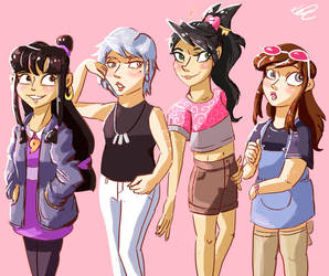 AA girls redraw by CherryBerryLemon