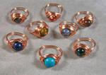Nestled Bead Copper Ring (u choose stone) by HeatherJordanJewelry