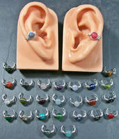 Simple Gemstone Ear Cuff by HeatherJordanJewelry