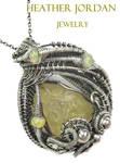 Libyan Desert Glass n Ethiopian Opal Pendant in SS by HeatherJordanJewelry