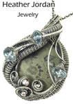 Pyritized Ammonite Fossil Wire-Wrapped Pendant by HeatherJordanJewelry