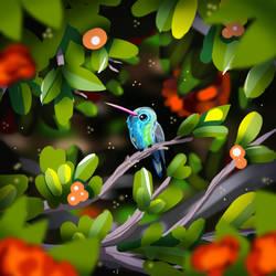 A Little Hummingbird in a Big World by artngoodfeelings