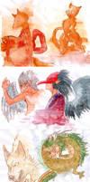 Mythological creatures by PapaVego