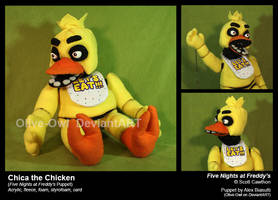 Chica the Chicken Puppet by Olive-Owl