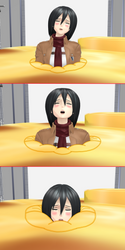 Mikasa, Part Of A Nutrious Breakfest by RBX2