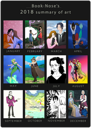 2018 Summary of Art by Book-Nose
